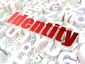 Security concept identity on alphabet background d render Stock Photo