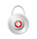 Security concept with locked red combination pad lock Stock Images