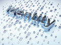Security concept silver identity on digital background d render Royalty Free Stock Photo