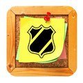 Security Concept - Yellow Sticker on Message Board. Royalty Free Stock Photo