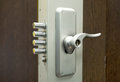 Security door lock a photo of an Royalty Free Stock Image