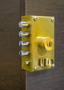 Security door lock a photo of an Royalty Free Stock Photography