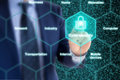 Security expert IOT grid cybersecurity concept