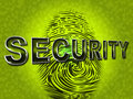 Security fingerprint indicates company id and brand meaning Royalty Free Stock Photo