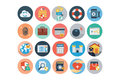Security Flat Colored Icons 4 Royalty Free Stock Photo