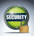 Security glass button Stock Photos