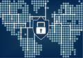 IT security for global organization to prevent data and network breaches Royalty Free Stock Photo
