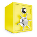 Security gold safe isolated on a white background Stock Photography