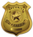 Security Guard Officer Badge Stock Images
