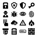 Security Icons Set Royalty Free Stock Photo