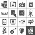 It security icons simplus series information technology vector Stock Images