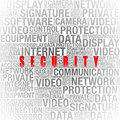 Security info in word collage Royalty Free Stock Photo
