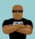 Security man vector illustration background Royalty Free Stock Photos