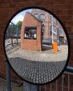 Security mirror Stock Photo