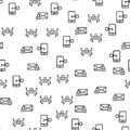 Security Mobile System Seamless Pattern Vector.