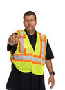 Security Officer Directing Isolated Royalty Free Stock Photography