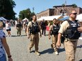 Security at a Popular Street Fair, Rutherford, NJ, USA Royalty Free Stock Photo