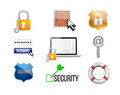 security protection concept icon set Royalty Free Stock Photo