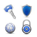 Security and protection symbols privacy secrecy concept vector illustrations Royalty Free Stock Photo