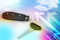 Security remote control for your car Royalty Free Stock Photo