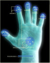 Security Scan of Hand Royalty Free Stock Photo