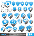 Security shield - symbols, icons and logos Royalty Free Stock Photos
