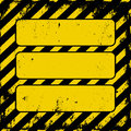 Security tape yellow black grunge danger sign with copy space Stock Image