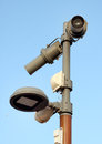 Security video camera in a town in france Stock Images