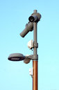 Security video camera in a town in france Royalty Free Stock Images