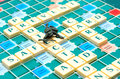 Security words scrabble of with sentinel Stock Images