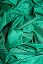 Seda brillante verde Fotos de archivo libres de regalías