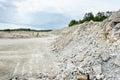 Sedimentary rocks at a limestone quarry open pit mine mining industry Stock Photo