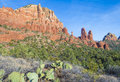 Sedona arizona area landscape with red sandstone cliffs Royalty Free Stock Photography
