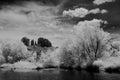 Sedona arizona black and white image of Stock Photography
