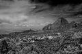 Sedona arizona black and white image of Royalty Free Stock Image