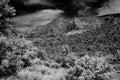 Sedona arizona black and white image of Royalty Free Stock Photography