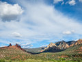 Sedona arizona dramatic view from uptown Royalty Free Stock Images