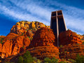 Sedona church Stock Photos