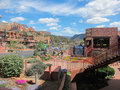 Sedona view of the tourist city of arizona Stock Image
