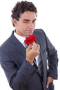 Seducer with rose Royalty Free Stock Photo