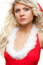 Seductive santa helper Royalty Free Stock Image