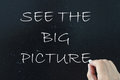 See the big picture written on a blackboard Stock Image