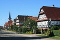 Seebach village in alsace traditional france Royalty Free Stock Image