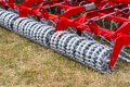 Seedbed machinery close view on the fragment of Royalty Free Stock Image