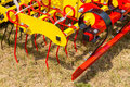 Seedbed machinery close view on the fragment of Royalty Free Stock Images