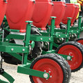 Seeder machine close up view Stock Images