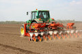Seeding tractor Royalty Free Stock Image