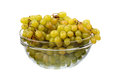 Seedless grapes in glass dish Royalty Free Stock Images