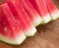 Seedless watermelon juicy fresh slices Stock Photo