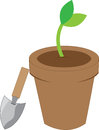 Seedling helps us to grow plant and tree pick those design by concord Royalty Free Stock Photo